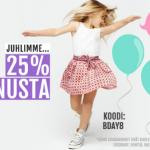-25% ALEKOODI BABYSHOPIIN!