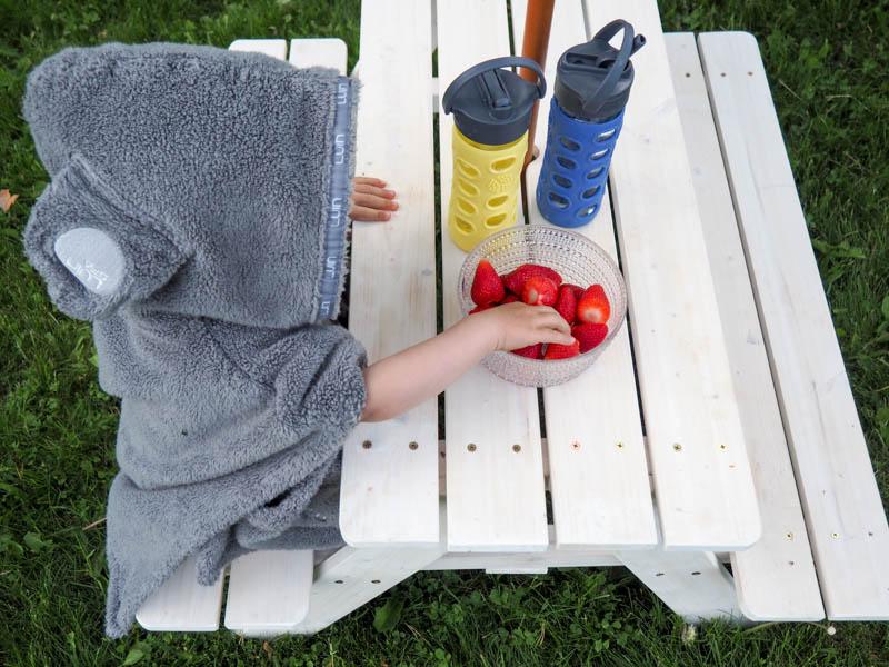 piknikpöytä lapsille